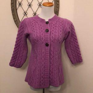 Kilronan purple knit button sweater size small